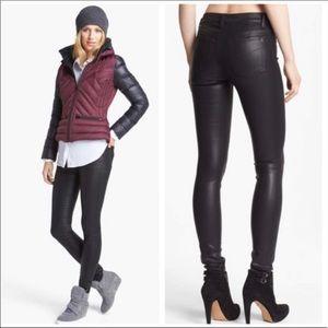 Joe's Jeans Black Coated Mid Rise Skinny Jean 32